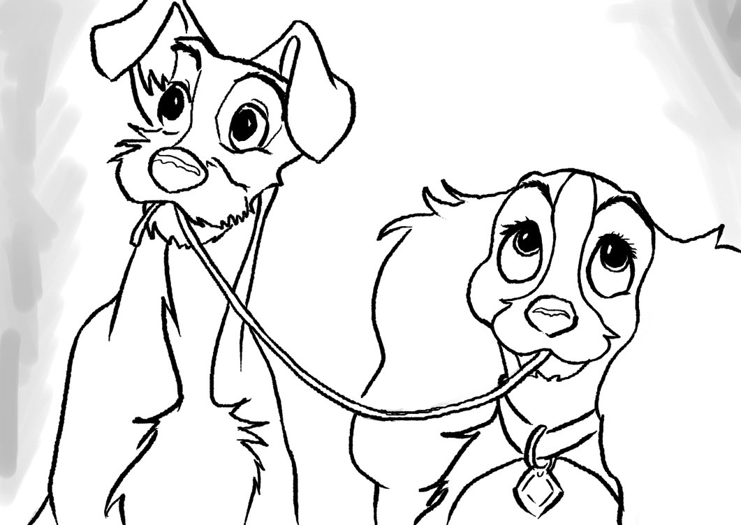 Lady And The Tramp Drawing At Getdrawings Free Download