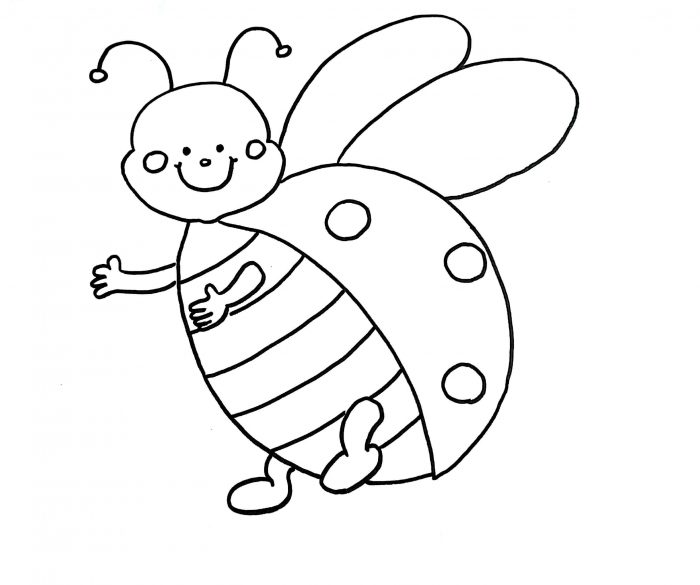 700x585 How To Draw A Ladybug (Step By Step With Images) Learn Easy Drawings