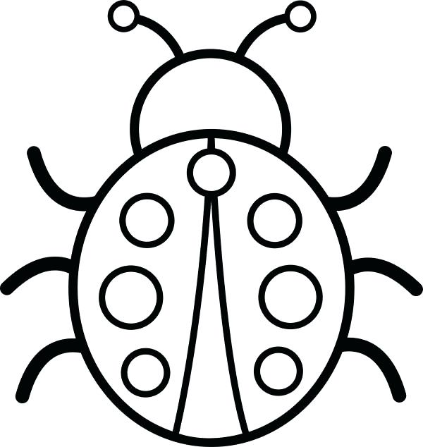 600x634 Astonishing Lady Bug Coloring Page 68 For Line Drawings With Lady