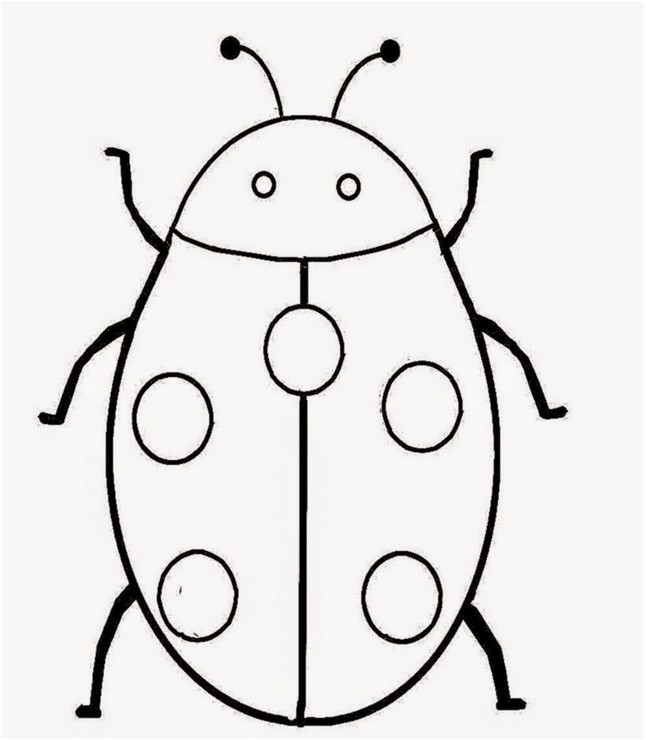 646x740 Coloring Page Lady Bug Printable Drawing Board Weekly