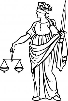 277x414 Blind Justice Lady Justice