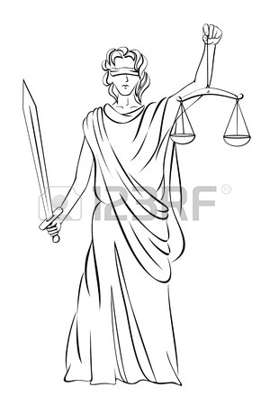 300x450 Vector Illustration Of Lady Justice Royalty Free Cliparts, Vectors