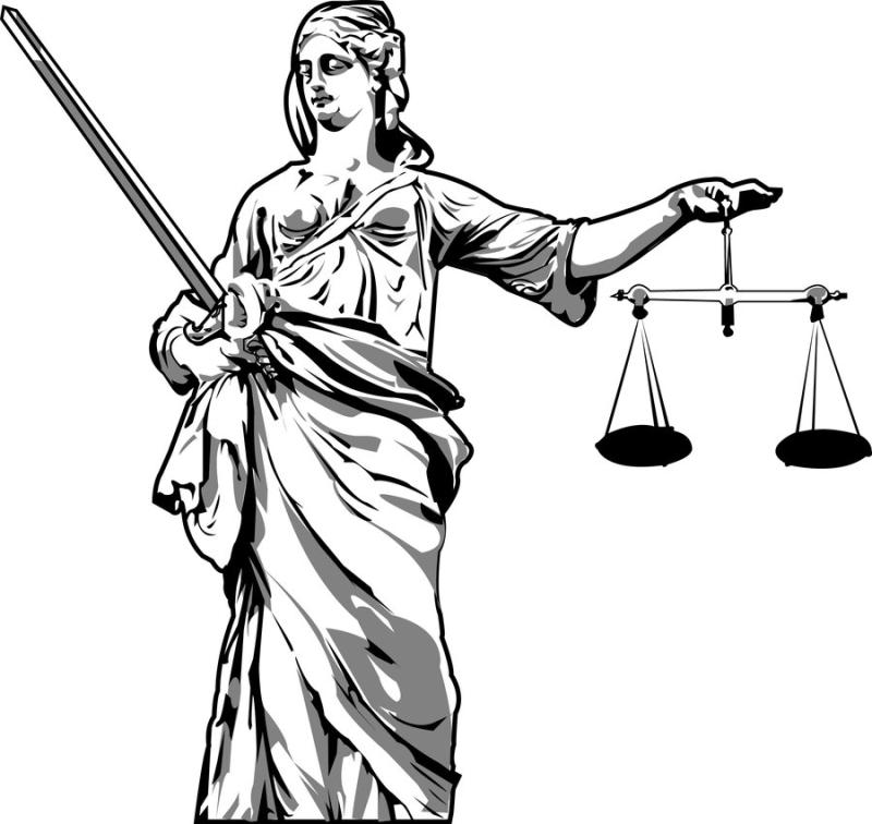 800x756 Lady Justice Clip Art