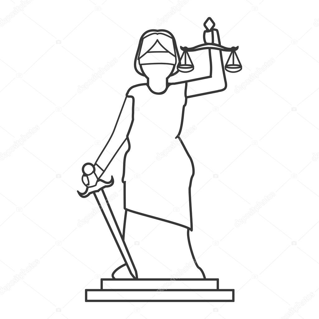 1024x1024 Lady Justice Icon Stock Vector Jemastock