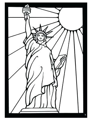 305x400 Elegant Coloring Pages Statue Of Liberty Crayola Photo