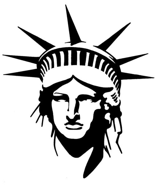 510x600 Lady Liberty Stencil Lady Liberty Stenciling