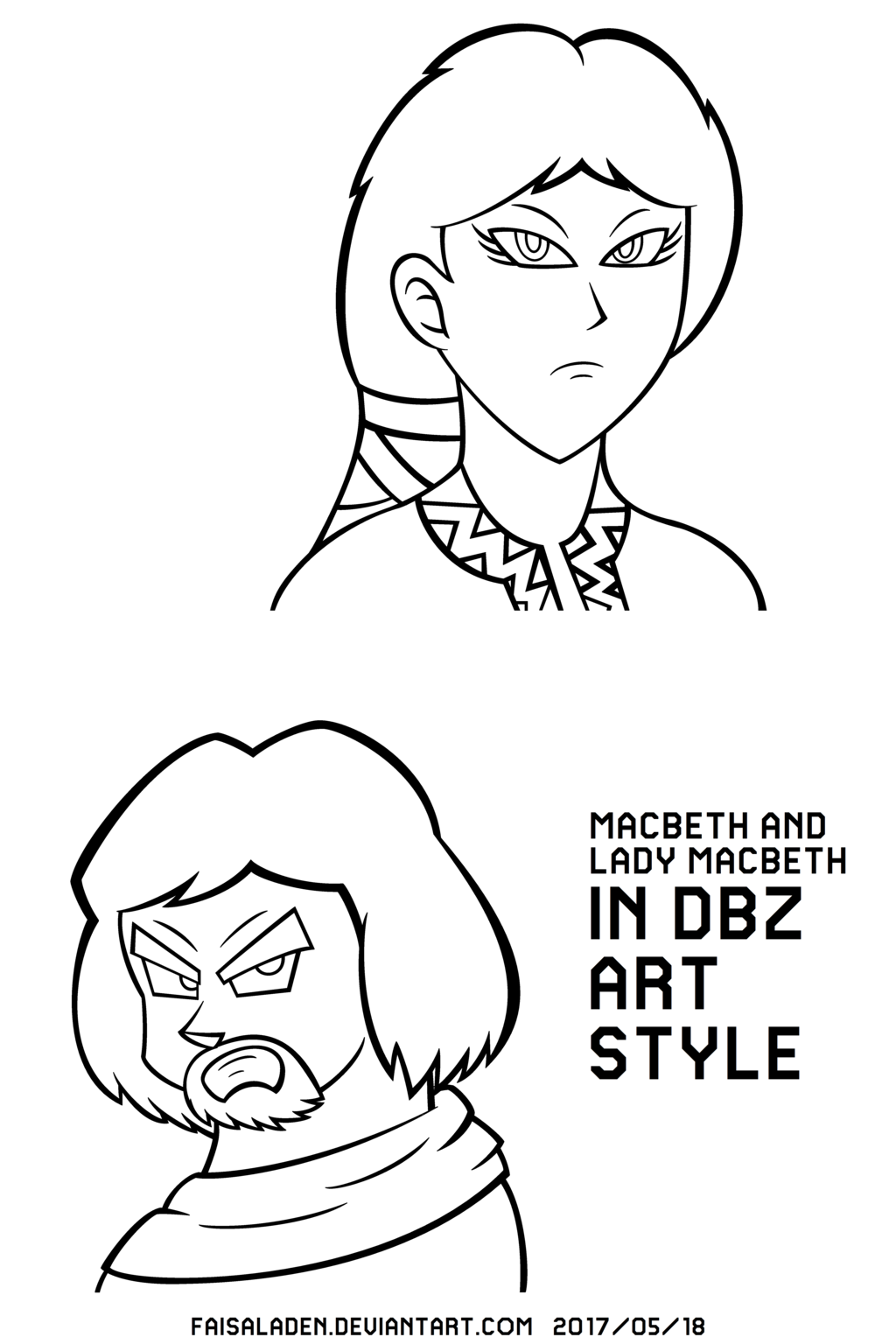 1024x1536 Macbethlady Macbeth In Dbz Art Style (Schoolwork) By Faisaladen