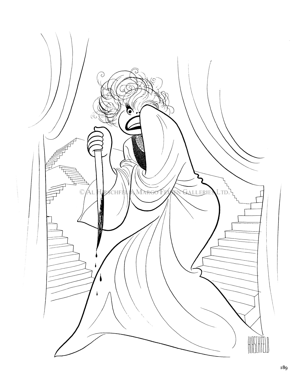 2400x3000 Unlikely Casting Carol Channing As Lady Macbeth Al Hirschfeld