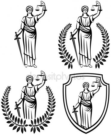 371x450 Lady Justice Holding Scales And Sword Stock Vector Tinkerfrost