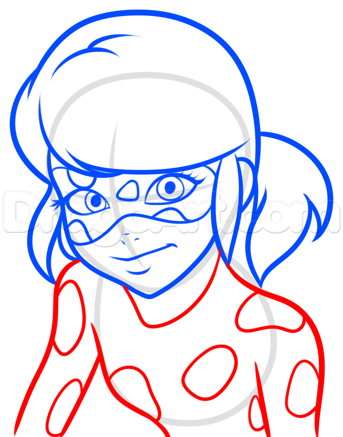 706x901 How To Draw Miraculous Ladybug, Step By Step, Nickelodeon