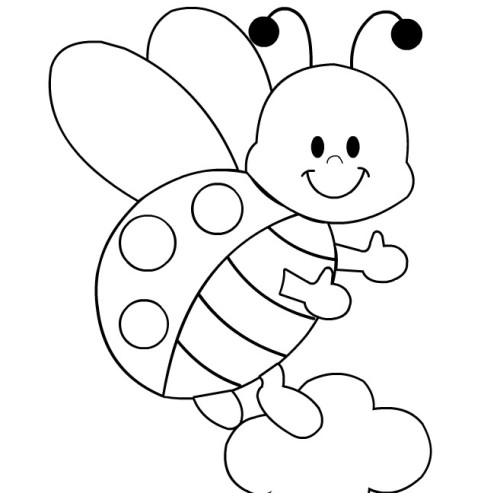 500x493 Ladybug Coloring Pages To Print April2014 Ladybug