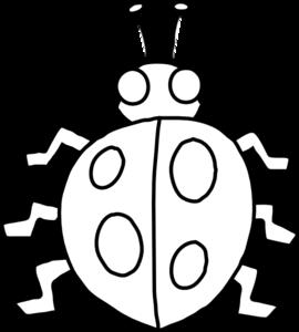 270x300 Ladybug Outline Clip Art