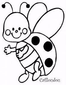 222x288 Ladybug Coloring Pages