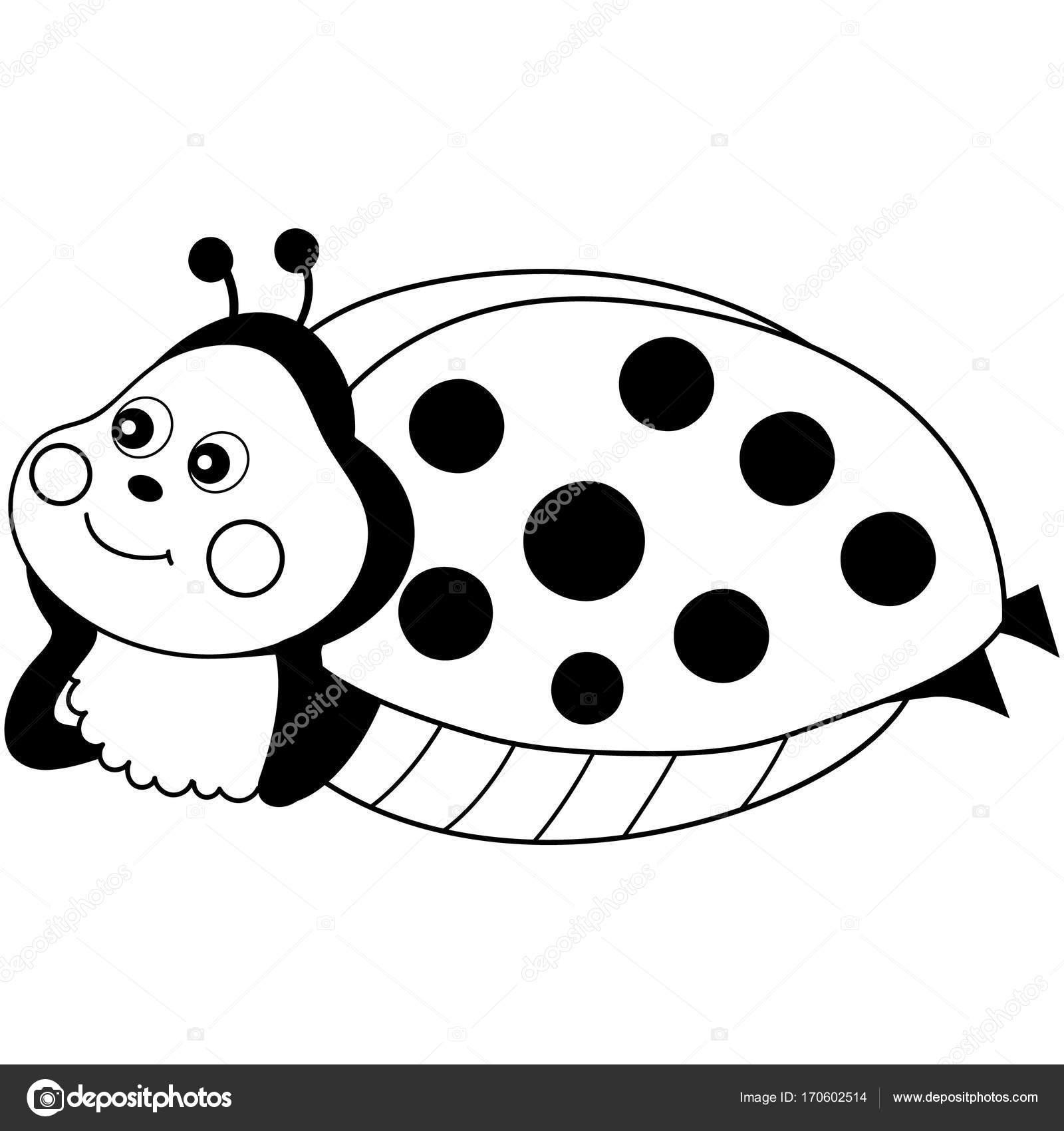 1600x1700 Vector Cute Cartoon Ladybug Resting Stock Vector Marlenes9