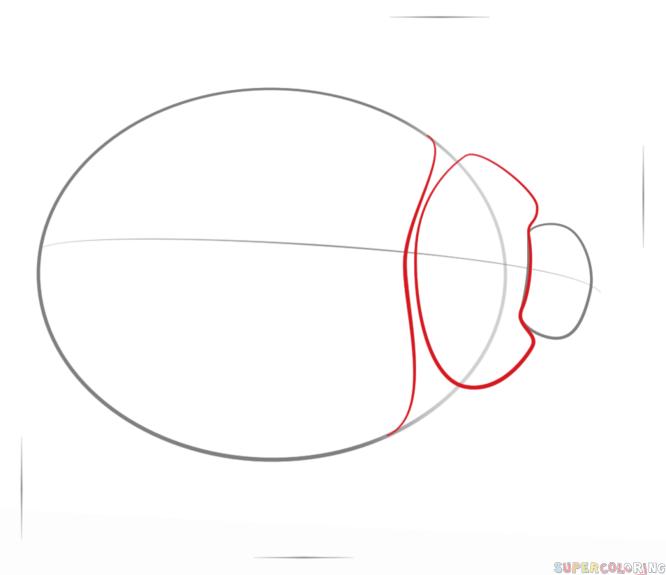 666x575 Drawn Ladybug Draw