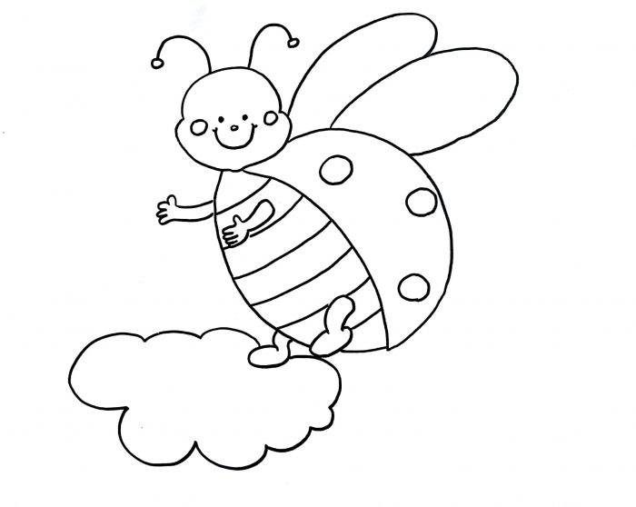 700x558 How To Draw A Ladybug (Step By Step With Images) Learn Easy Drawings