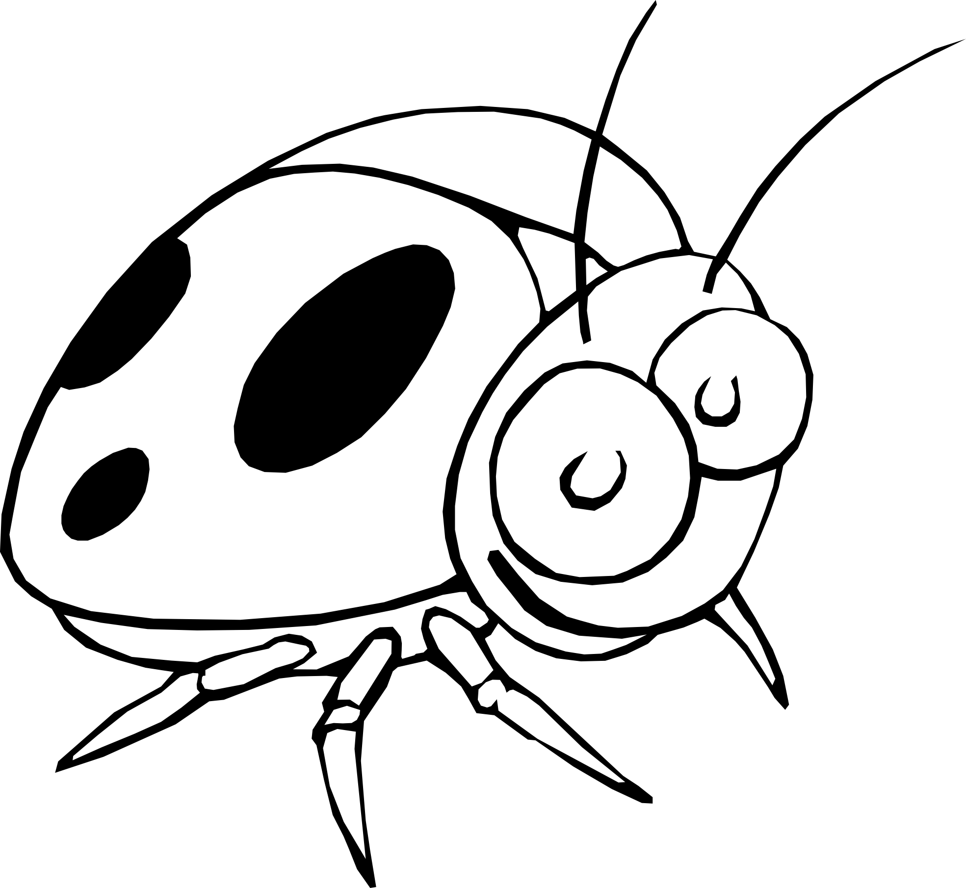 1339x1732 Ladybug Coloring Pages 1969x1810 Drawing Black And White Clipart Panda