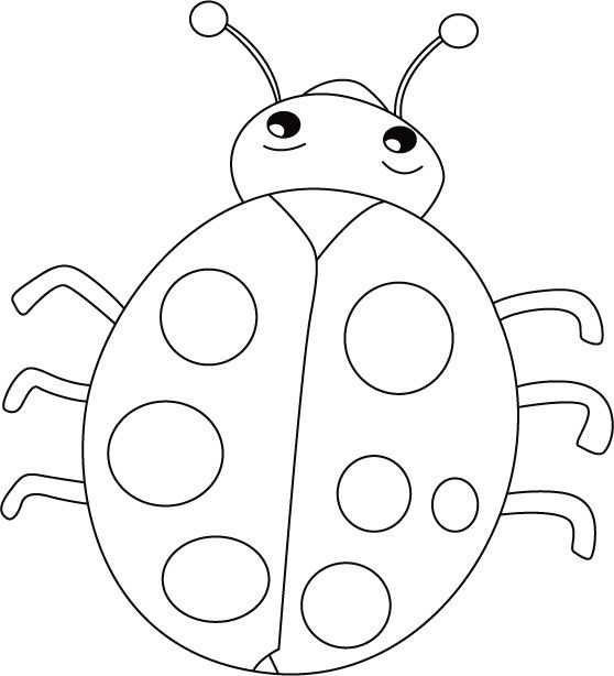558x614 Ladybug Smiles, Stomach Cries Coloring Pages After School