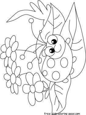 282x377 Print Out Happy Face Ladybug Coloring Page Applique Ideas