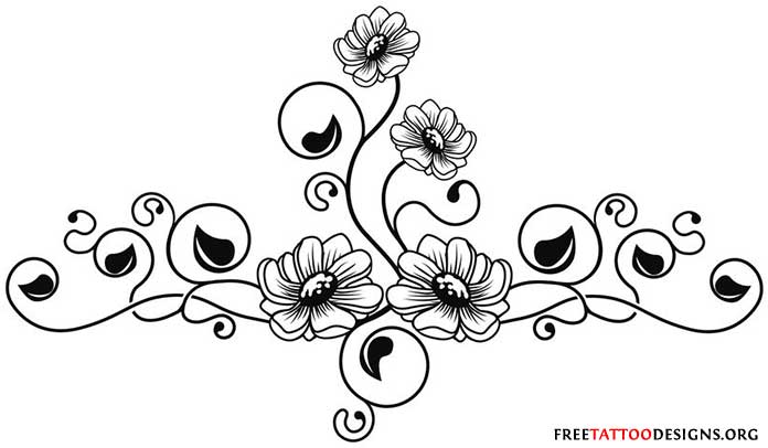 696x406 Flower Tattoos Floral, Lily, Lotus, Tropical, Sunflower Tattoo