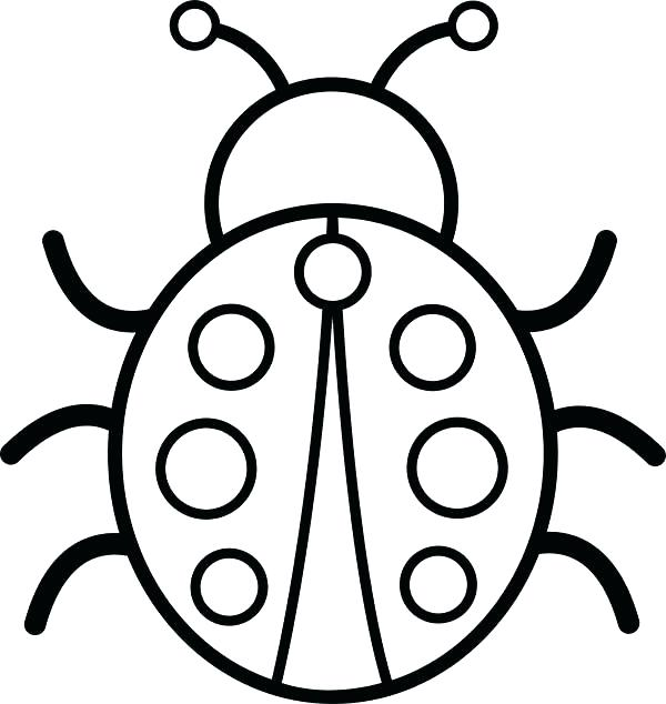 600x634 Ladybug Coloring Book Together With Coloring Lightning Bug Various