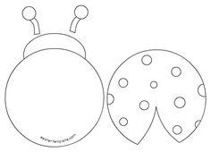 236x170 Ladybug Cut Out Pattern