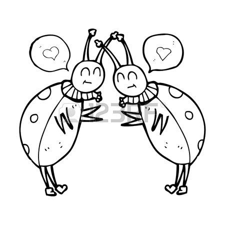 450x450 Freehand Drawn Speech Bubble Cartoon Ladybug Royalty Free Cliparts