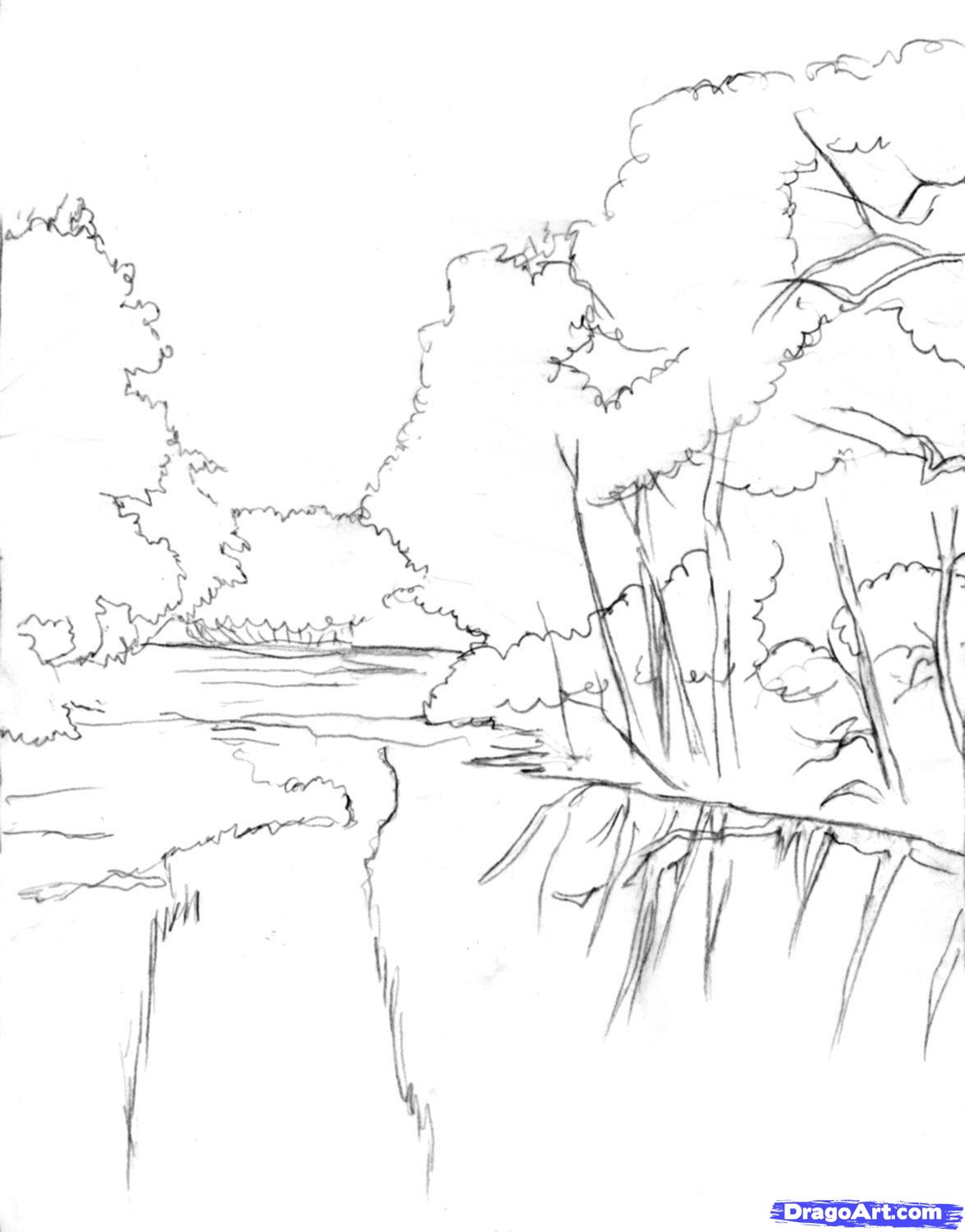 1175x1500 How To Draw A Realistic River Step1 Step 8 And Shade It Too