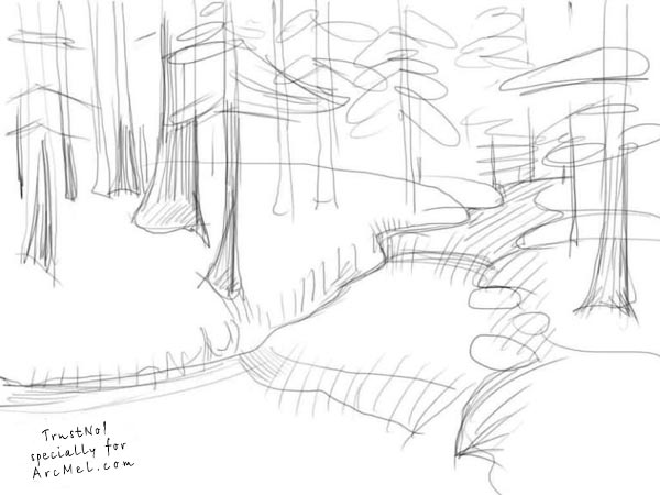 600x450 How To Draw A River Step By Step