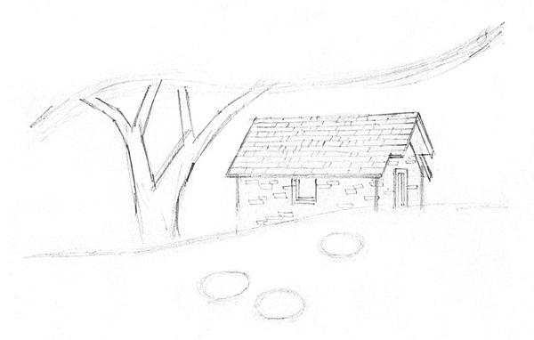 600x382 A Landscape Drawing Lesson And Free Caran D'Ache Pencils