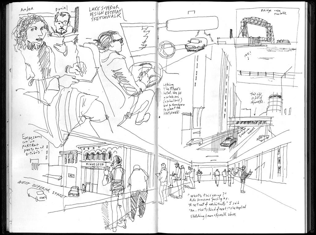 1024x761 Sketching In The (Freezing) Land Of Ten Thousand Lakes Urban