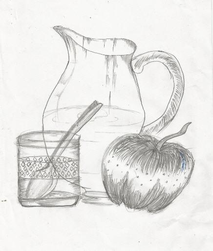 436x515 Art By Kids Still Life Pencil Sketch