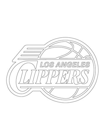 360x480 Los Angeles Clippers Logo Coloring Page Free Printable