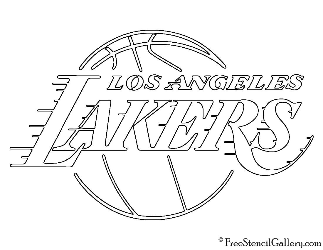 1100x850 Nba Los Angeles Lakers Logo Stencil Free Stencil Gallery