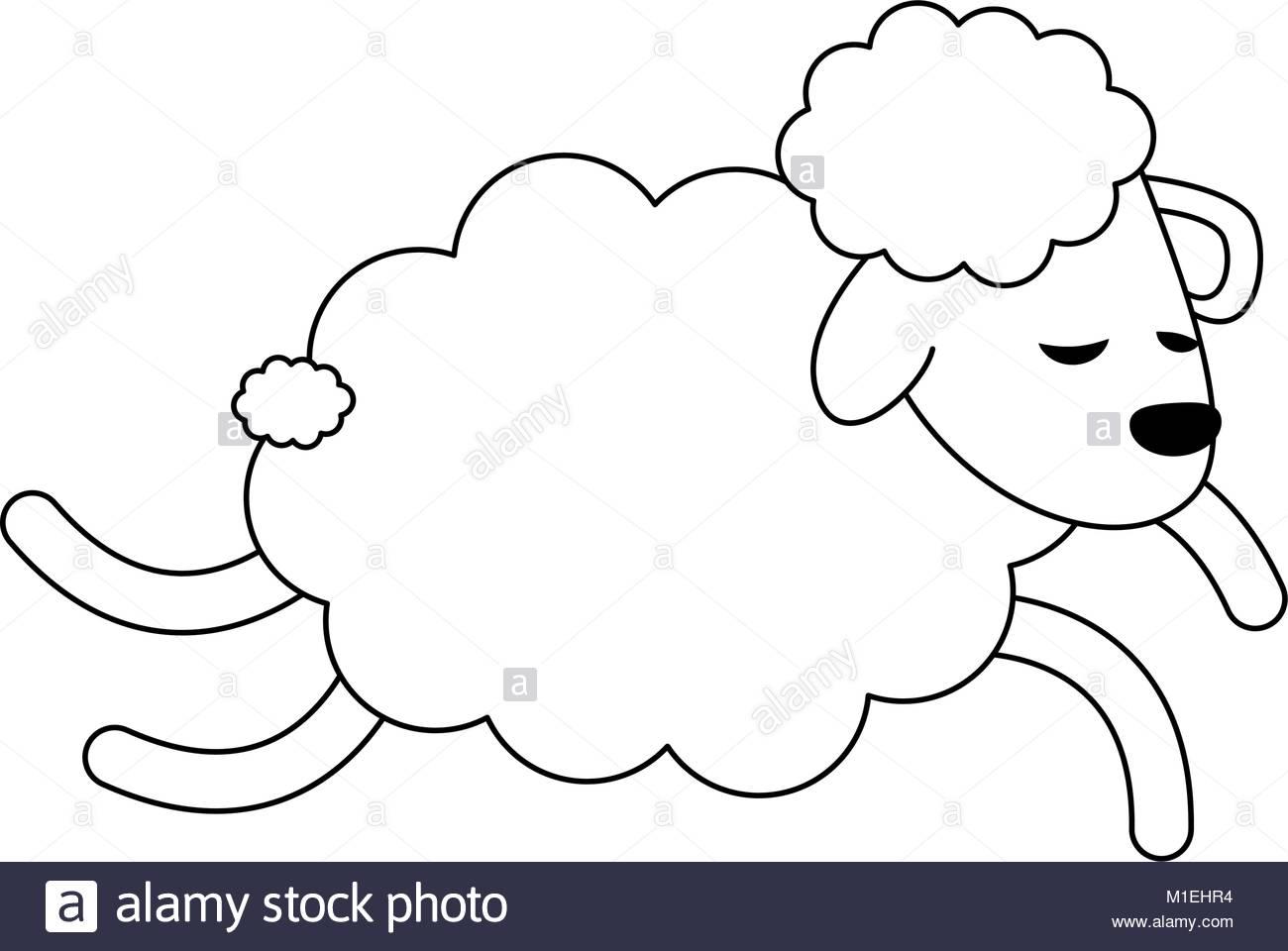 1300x960 Illustration Cute Sheep Lamb Cartoon Stock Photos Amp Illustration