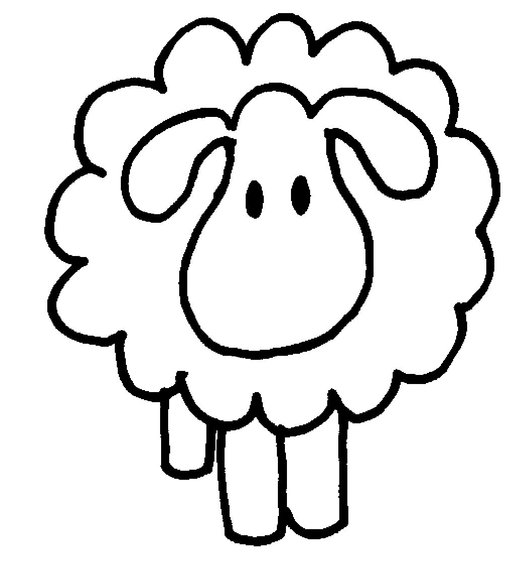 Cartoon Sheeps Coloring Pages For 1023x1135 Drawn Sheep Simple