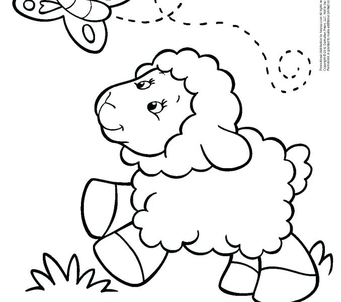678x600 Lamb Coloring Page Lamb Coloring Page Butterfly Sheep Coloring