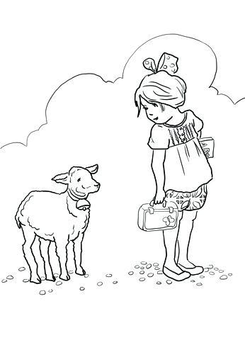 346x480 Lamb Coloring Page Sheep Drawing For Kids Lamb Coloring Page Lamb