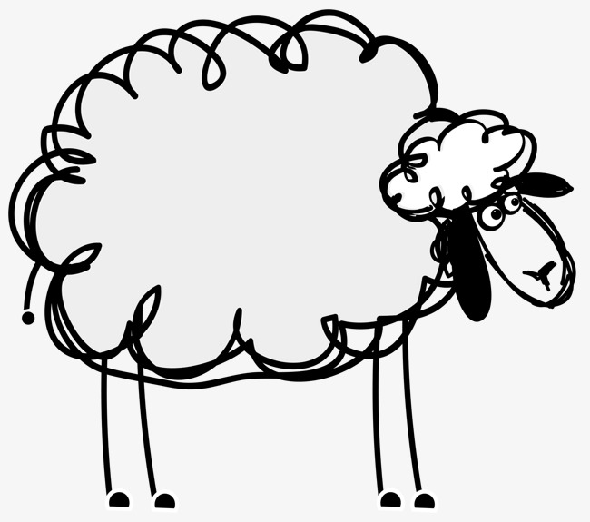 650x575 Stroke Lamb Vector, Cartoon, Lovely, Lamb Png And Vector For Free