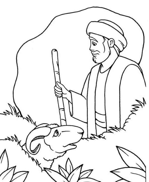 600x733 Abraham Saw The Lamb Of God Coloring Pages Batch