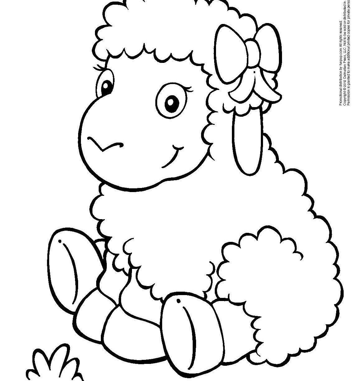 Lamb Outline Drawing at GetDrawings | Free download