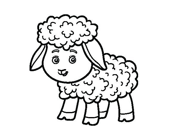 600x470 Lost Sheep Bible Coloring Page Little Baby Lamb Black And White