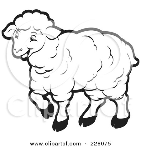 450x470 Classy Design Sheep Outline Royalty Free Rf Clipart Illustration