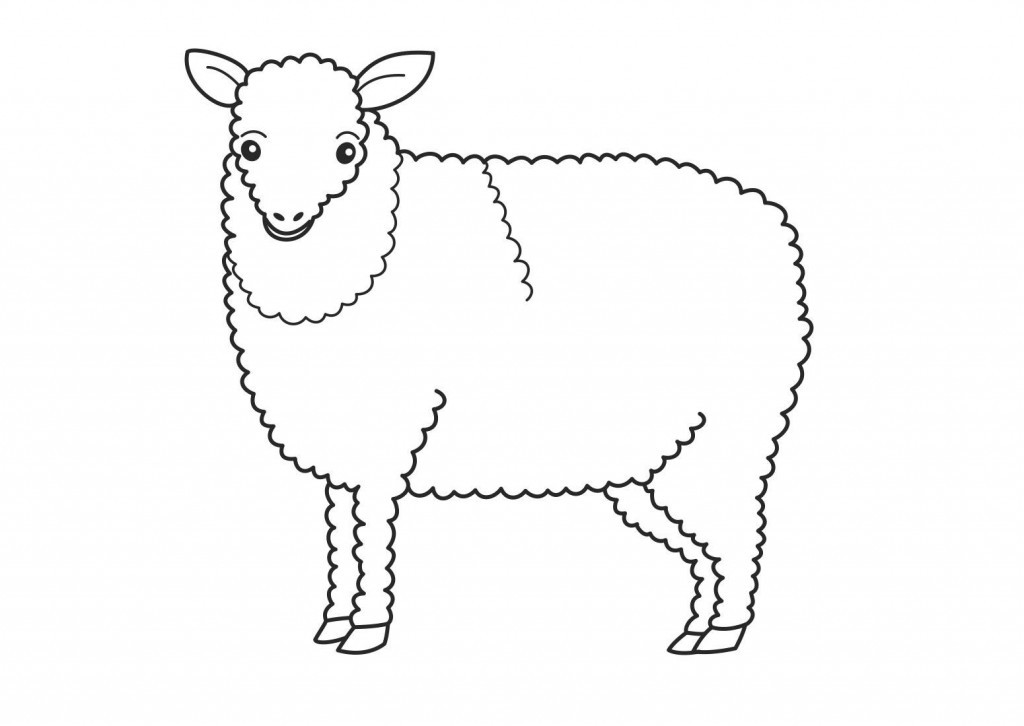 1024x726 Sheep Colouring Pages For Kids