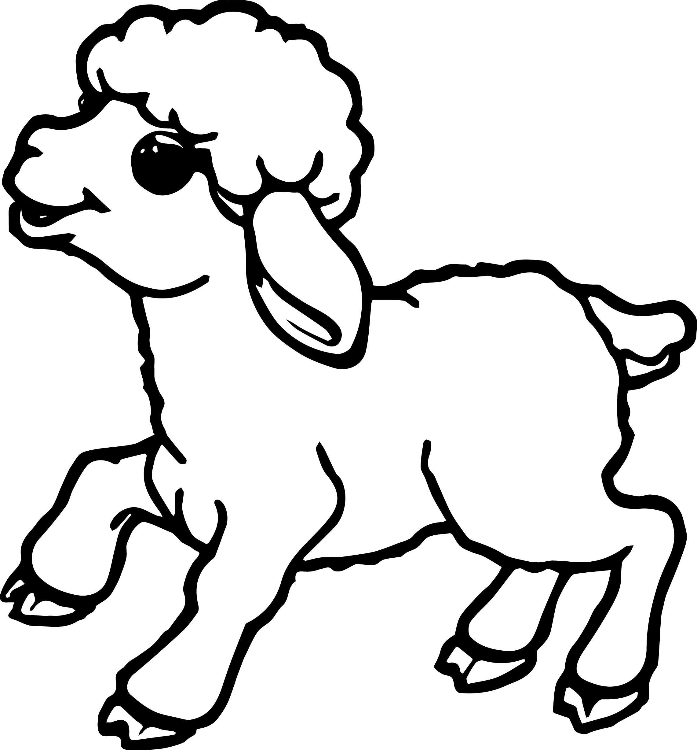 Lamb Outline Drawing at GetDrawings.com | Free for personal use Lamb ... for lamb drawing outline  117dqh