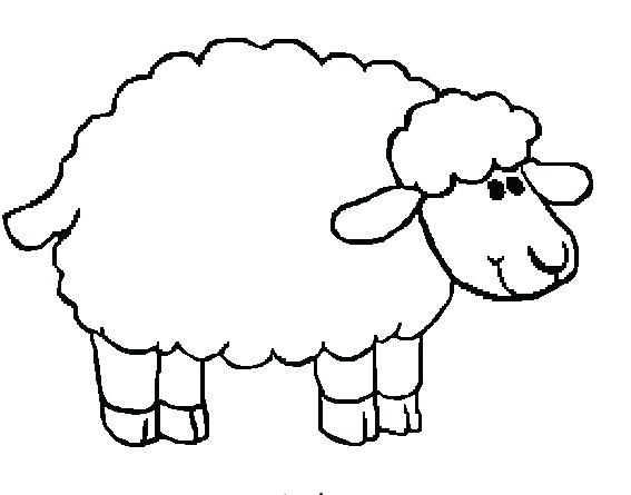 Lamb outline drawing at free for for Lamb coloring page