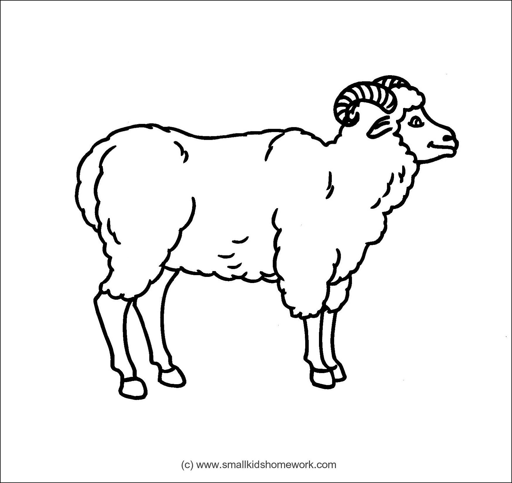 Lamb Outline Drawing at GetDrawings.com | Free for personal use Lamb ... for lamb drawing outline  199fiz