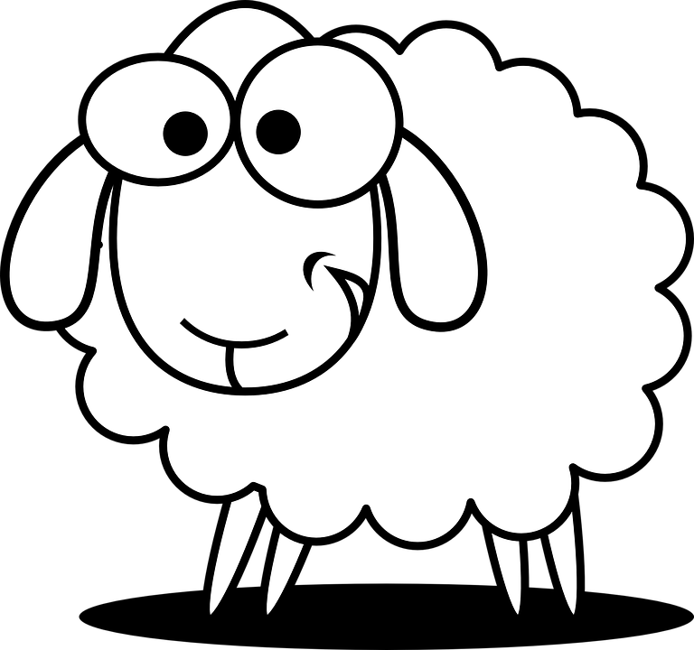 768x720 Drawn Sheep Farm Animal
