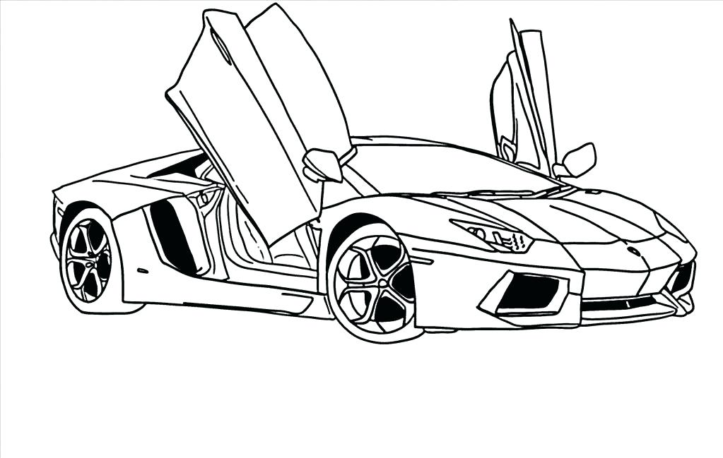 Lamborghini aventador drawing outline at for Lamborghini aventador coloring pages