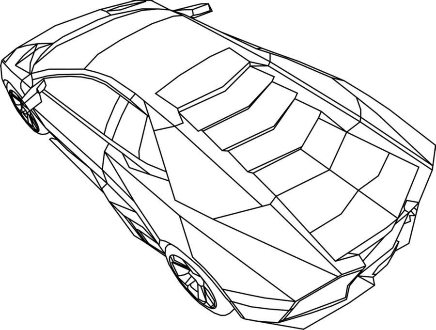 Lamborghini Aventador Drawing Outline At Getdrawings Com Free For
